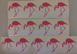 30 x  Pink flamingo stickers